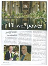 Magazine article featuring John