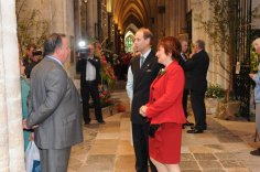 John with HRH Prince Edward. John sourced all of the flowers for this fund raising flower festival